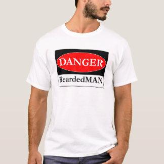 The Danger BeardedMAN sign T-Shirt