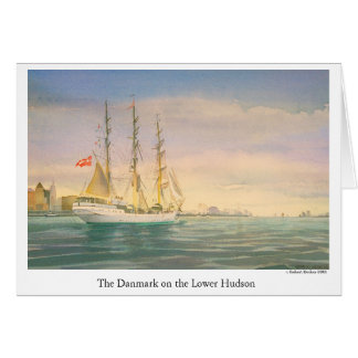 The Danmark on the Lower Hudson Card