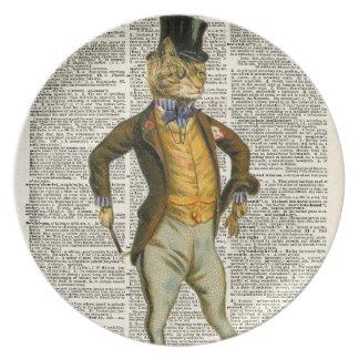 The dapper cat plate