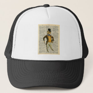 The dapper cat trucker hat