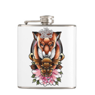 The Dapper Dead Hip Flask