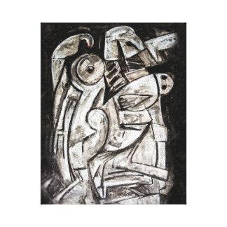 The dark despair of george canvas print