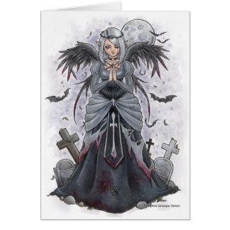 The Dark Priestess Angel Note Card