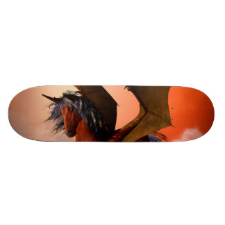 The dark unicorn skateboard decks