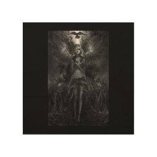 The Dark Witch Wood Print