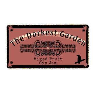 The Darkest Garden Jam Ever Shipping Label
