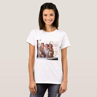 The darling Monkeys sitting close together. T-Shirt