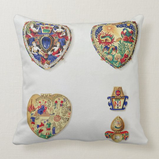 The Darnley Jewel, from 'Historical Notes on the L Throw Pillow