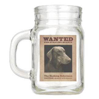 The Dashing Doberman Mason Jar Mug
