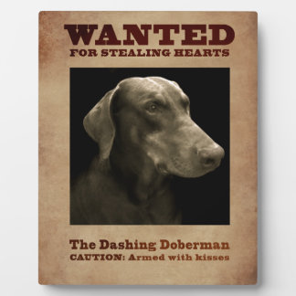 The Dashing Doberman Plaque