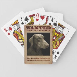 The Dashing Doberman Playing Cards