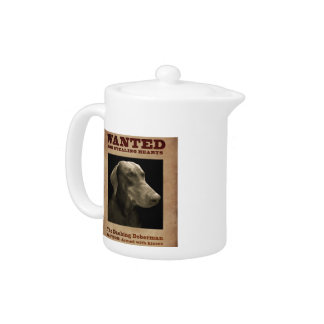 The Dashing Doberman Tea Pot