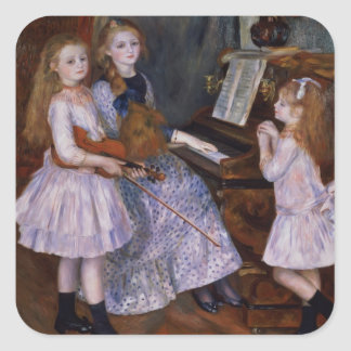 The Daughters of Catulle Mendes at the piano, 1888 Stickers