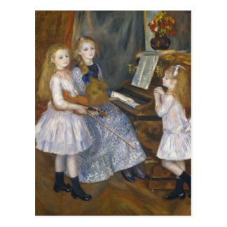 The Daughters of Catulle Mendès - Renoir Postcard