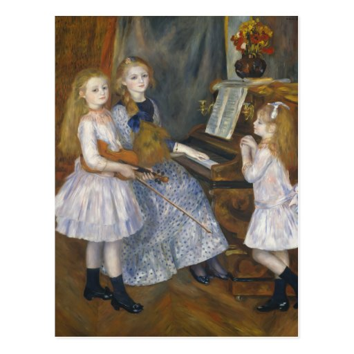 The Daughters of Catulle Mendès - Renoir Post Cards