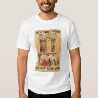 The Davenport brothers, poster for Seance, 1865 Tees