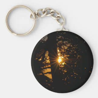 The Day Beckons at sunrise Basic Round Button Keychain