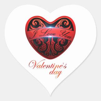 The day of San Valentin Heart Sticker