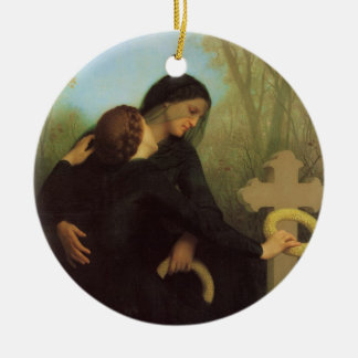 The Day of the Dead by William Adolphe Bouguereau Ceramic Ornament