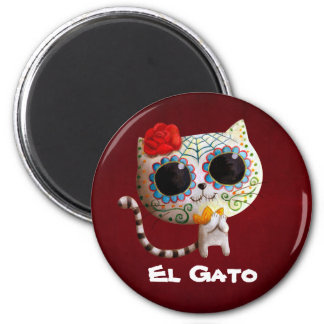 The Day of The Dead Cute Cat Refrigerator Magnets
