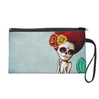The Day of The Dead Lovely Mermaid Gal Wristlet
