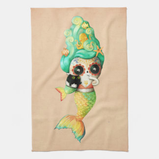 The Day of The Dead Mermaid Girl Towels