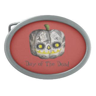 The Day of The Dead Pumpkin Sugar Skull Belt Buckles
