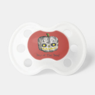 The Day of The Dead Pumpkin Sugar Skull Pacifier