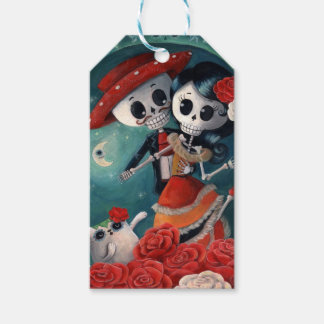The Day of The Dead Skeleton Lovers Gift Tags