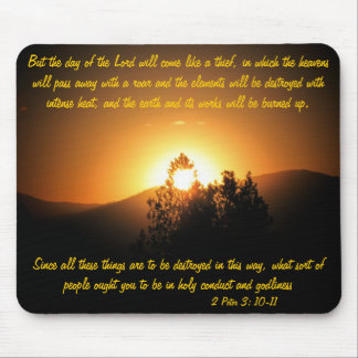 The Day of the Lord Like a Thief Mouse Pad