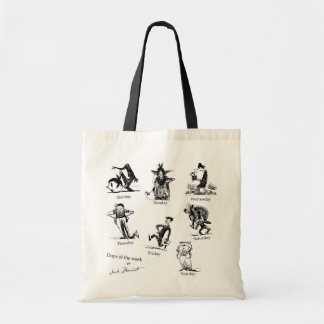 The day of the week tote bag
