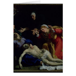 The Dead Christ Mourned , c.1604 Greeting Cards