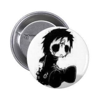 the dead gothic doll 2 inch round button