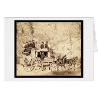The Deadwood Stagecoach Black Hills SD 1889 Card