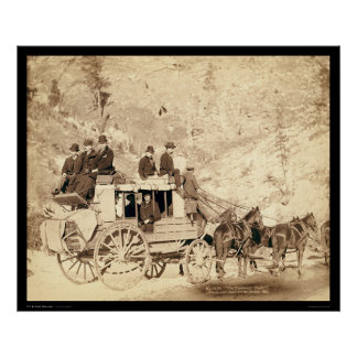 The Deadwood Stagecoach Black Hills SD 1889 Poster