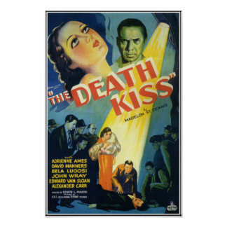 The Death Kiss Vintage Horror Movie Poster
