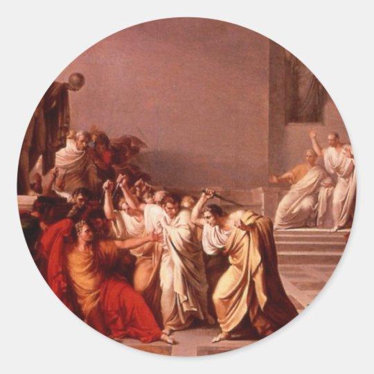 The Death of Caesar Classic Round Sticker