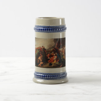 The Death of General Wolfe by Benjamin West 1770 Beer Stein