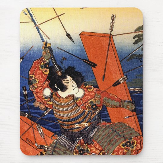 The death of Nitta Yoshioki at the Yaguchi ferry Mouse Pad
