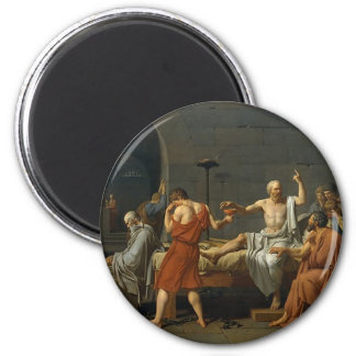 The Death of Socrates 2 Inch Round Magnet