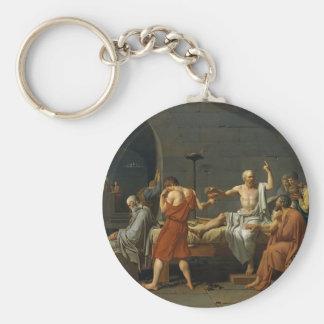 The Death of Socrates Basic Round Button Keychain