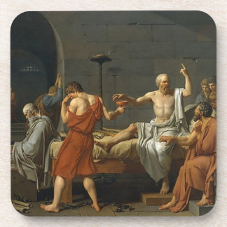 The Death of Socrates Beverage Coaster