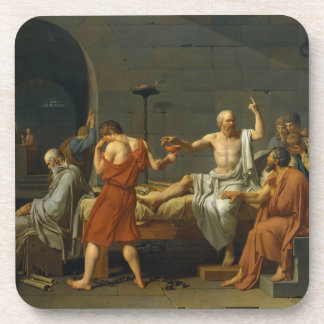 The Death of Socrates by Jacques-Louis David 1787 Coaster
