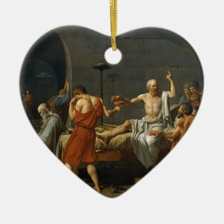 The Death of Socrates Ceramic Heart Ornament