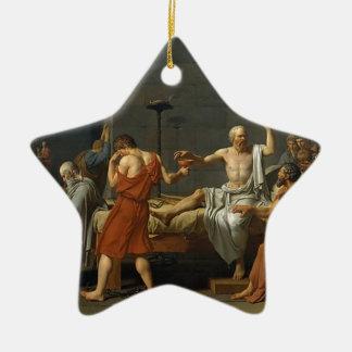 The Death of Socrates Ceramic Ornament