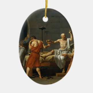 The Death of Socrates Ceramic Oval Ornament