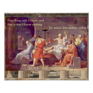 The Death of Socrates - I know nothing Poster