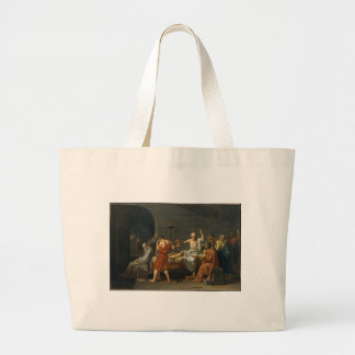 The Death of Socrates Large Tote Bag