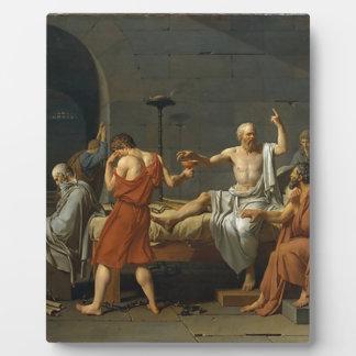 The Death of Socrates Plaque