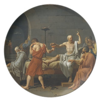The Death of Socrates Plate
